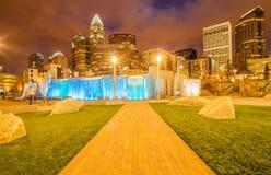 Orizzonte della città di Charlotte Fotografia Stock Libera da Diritti