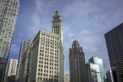 Orizzonte della città di Chicago immagini stock libere da diritti