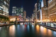 Orizzonte della città di Chicago fotografie stock