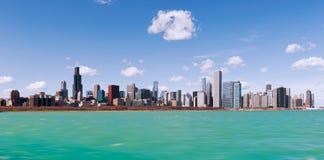 Orizzonte della città di Chicago, Illinois U.S.A. Fotografie Stock