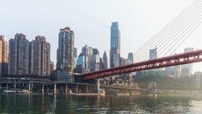 Orizzonte della città di Chongqing Lasso di tempo video d archivio