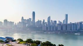 Orizzonte della città di Chongqing Lasso di tempo stock footage