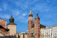 Orizzonte della città di Cracovia Od immagine stock libera da diritti