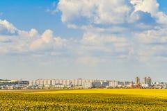 Orizzonte della città di Gubkin, regione di Belgorod, Russia fotografie stock