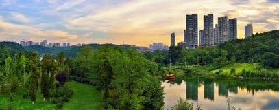 Orizzonte della città di Guiyang Fotografia Stock Libera da Diritti