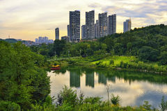 Orizzonte della città di Guiyang immagine stock