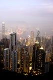Orizzonte della città di Hong Kong Immagini Stock