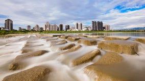 Orizzonte della città di Hsinchu, Taiwan Fotografia Stock
