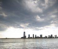 Orizzonte della città di Jersey Fotografie Stock