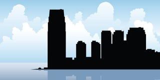 Orizzonte della città di Jersey Immagine Stock