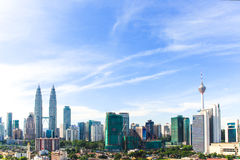 Orizzonte della città di Kuala Lumpur Fotografia Stock