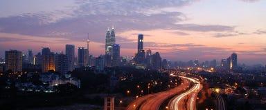 Orizzonte della città di Kuala Lumpur, Malesia. Immagine Stock Libera da Diritti