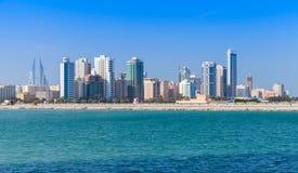 Orizzonte della città di Manama, Bahrain, Medio Oriente Immagini Stock
