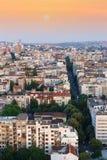Orizzonte della città di mattina, Belgrado, Serbia Fotografie Stock Libere da Diritti