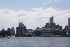 Orizzonte della città di Melbourne Immagine Stock