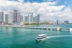 Orizzonte della città di Miami Immagini Stock