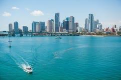 Orizzonte della città di Miami Immagine Stock