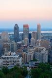 Orizzonte della città di Montreal Immagine Stock