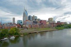 Orizzonte della città di Nashville, Tennessee, U.S.A. Fotografia Stock