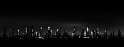 Orizzonte della città di notte Fotografia Stock Libera da Diritti