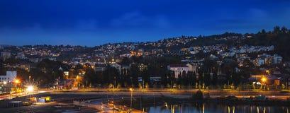 Orizzonte della città di Oslo, Norvegia fotografia stock libera da diritti