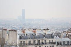 Orizzonte della città di Parigi Fotografia Stock Libera da Diritti