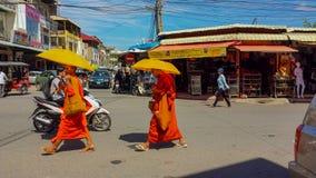 Orizzonte della città di Phnom Penh, Cambogia immagini stock libere da diritti