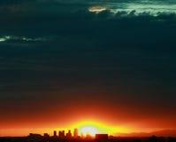 Orizzonte della città di Phoenix Immagine Stock Libera da Diritti