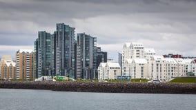 Orizzonte della città di Reykjavik Immagine Stock