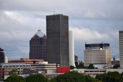 Orizzonte della città di Rochester NY di trascuratezza Immagini Stock