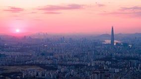 Orizzonte della città di Seoul fotografia stock