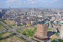 Orizzonte della città di Shenyang, Liaoning, Cina Fotografia Stock Libera da Diritti