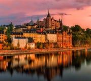 Orizzonte della città di Stoccolma Fotografia Stock Libera da Diritti