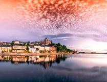 Orizzonte della città di Stoccolma Immagini Stock Libere da Diritti