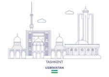 Orizzonte della città di Taškent, l'Uzbekistan royalty illustrazione gratis