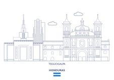 Orizzonte della città di Tegucigalpa, Honduras Fotografie Stock Libere da Diritti