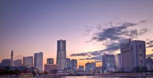 Orizzonte della città di Tokyo Giappone Yokahama Immagini Stock Libere da Diritti