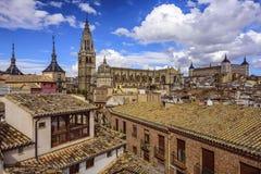Orizzonte della città di Toledo, Spagna Immagini Stock Libere da Diritti