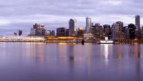 Orizzonte della città di Vancouver Immagini Stock