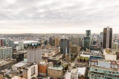 Orizzonte della città di Vancouver dall'alto punto di vista Fotografia Stock Libera da Diritti