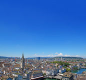 Orizzonte della città di Zurigo Immagini Stock
