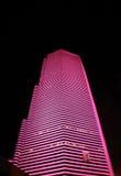 Orizzonte della città a Miami alla notte Fotografia Stock