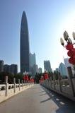 Orizzonte della città nella città di Shenzhen fotografia stock libera da diritti