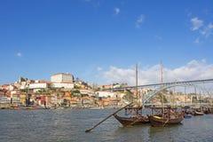 Orizzonte della città Oporto, Portogallo, con lo spazio della copia Fotografie Stock
