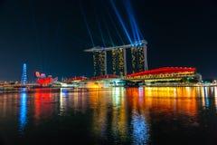 Orizzonte della città di Singapore Immagine Stock Libera da Diritti