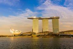 Orizzonte della città di Singapore Immagini Stock