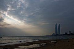 Orizzonte della effetto-spiaggia di Tyndall Fotografie Stock Libere da Diritti