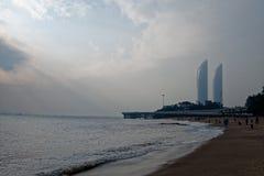 Orizzonte della effetto-spiaggia di Tyndall Immagini Stock