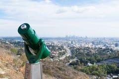 Orizzonte della LA che fa un giro turistico in Mulholland Fotografie Stock
