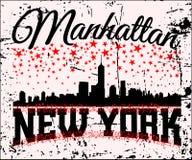 Orizzonte della maglietta di NYC Immagini Stock